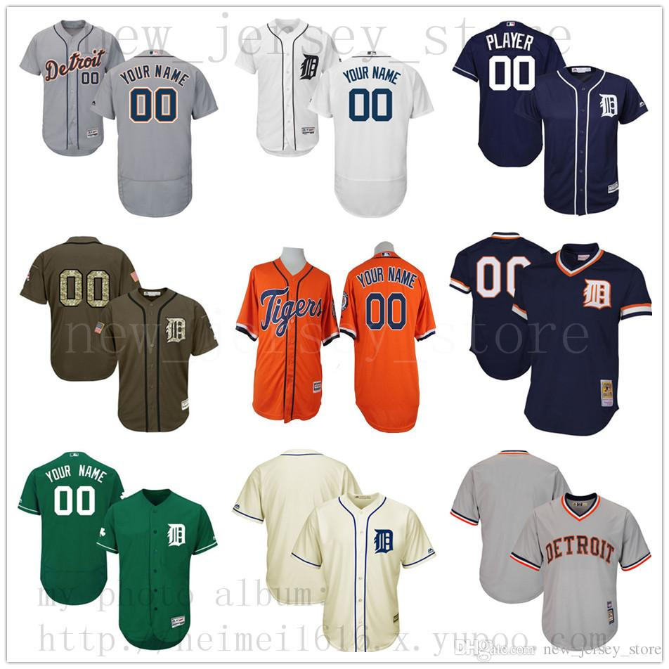 new concept 70950 79208 Custom DetroitTigers 2019 New Men Womens Youth Jerseys White Blue Green  Grey Red Stitched any Name Any Number Jersey
