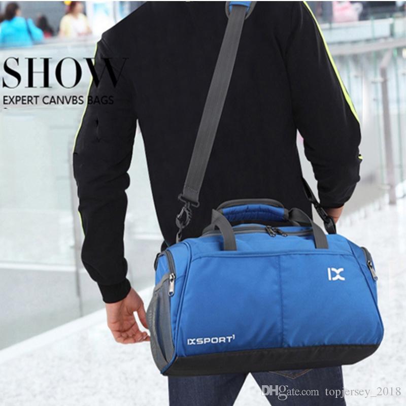 17ad109c189c Men Women Shoulder 18 L Nylon Sport Athletic Bags Waterproof Travel Yoga  Fitness Duffel Tote Durable Sport Handbag Fitness Bag  164162 UK 2019 From  ...