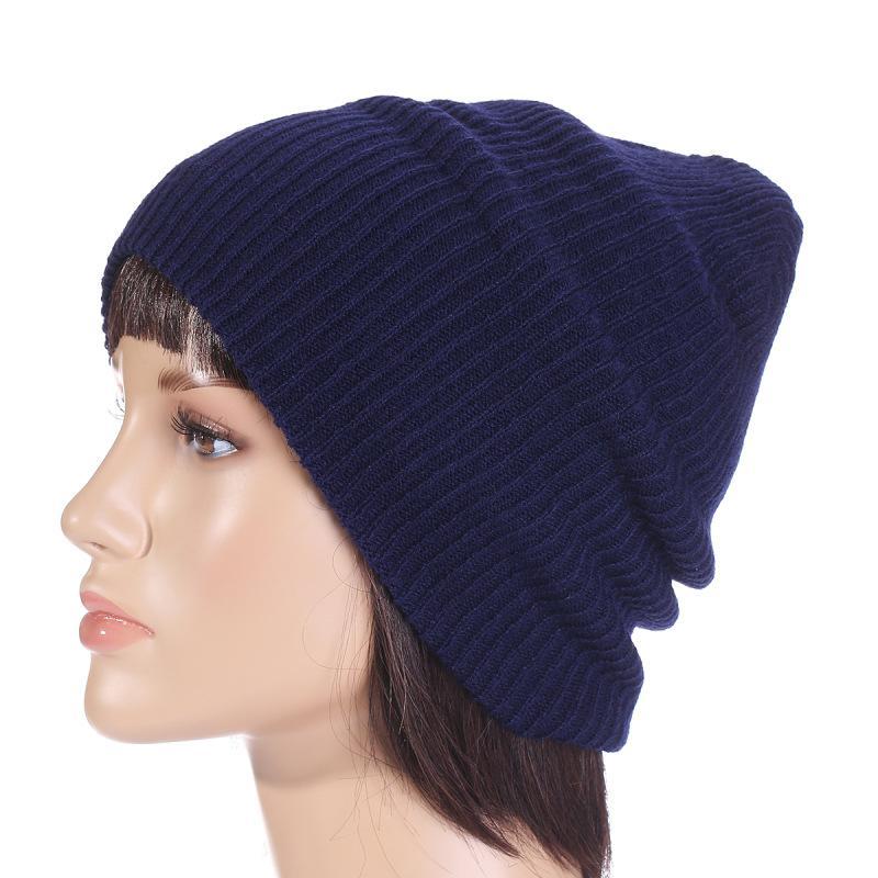 6c5df38ff59 Soft Knitted Hat Female Men Cap Women Cotton Beanies Winter 2018 ...