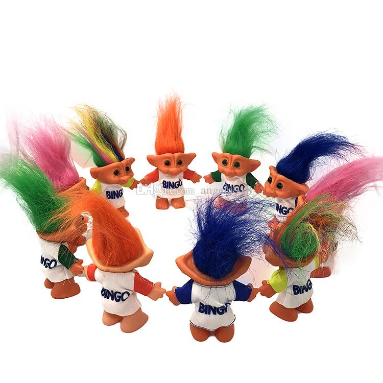 10cm Troll Doll With Bingo Clothes Leprechauns Dam Toys Russ Troll for Nostalgic Doll Children Birthday Gift LA249