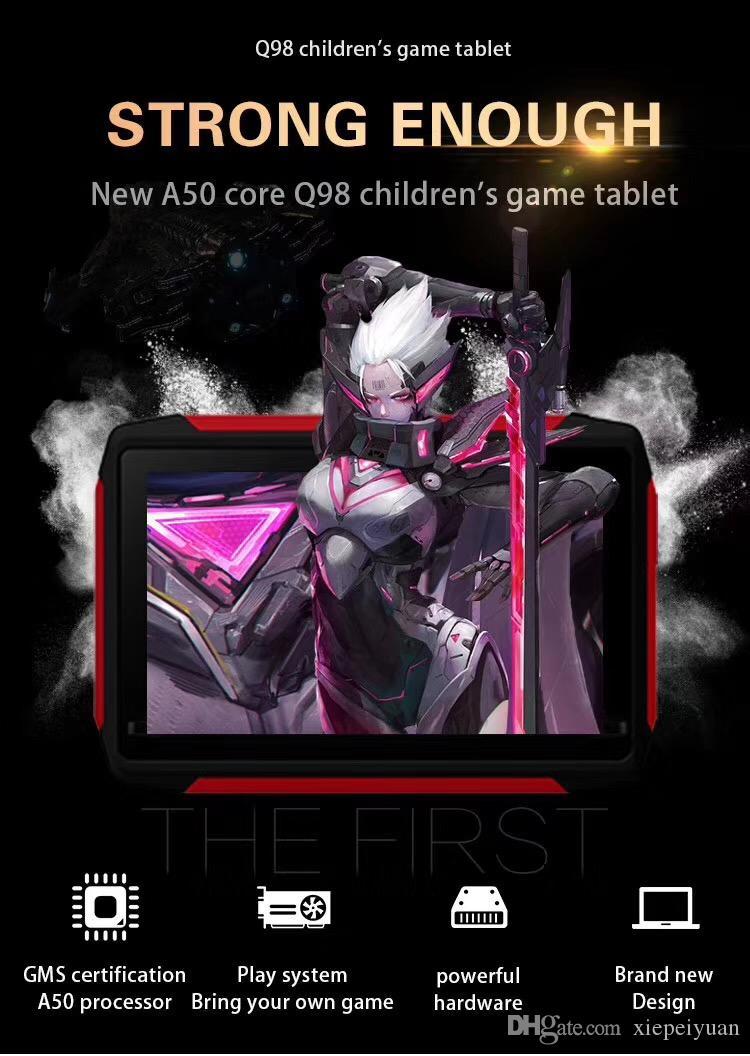 2020 طفل جديد الكمبيوتر اللوحي Q98 رباعية النواة 7 بوصة 1024 * 600 HD شاشة الروبوت 9.0 AllWinner لA50 الحقيقي Q8 1GB RAM 16GB مع واي فاي بلوتوث