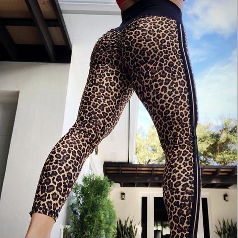 268b4ab85799ef 2019 Vertvie Women Leopard Printed Yoga Pants Fitness Leggin Sport Legginsg Printed  Leopard Side Strips High Waist Leggings From Capsicum, $81.49   DHgate.