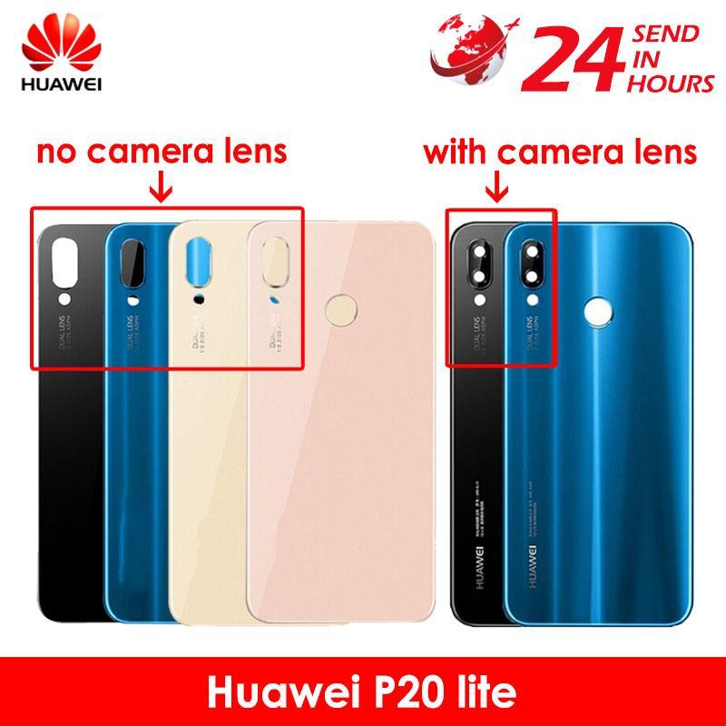 quality design 49853 c1a43 Carcasa Huawei P20 Lite Back Battery Glass Cover With Camera Lens Huawei  P20 Lite Battery Cover Nova 3e Rear Door Housing