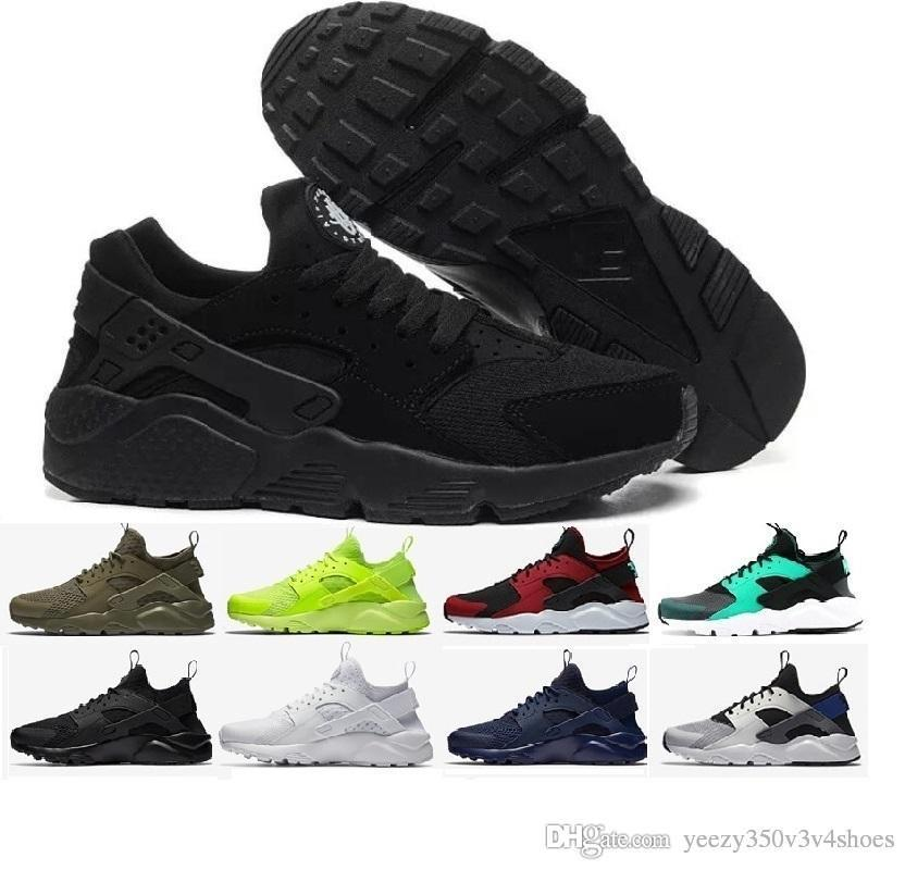 b6a8ab7e2278 Cheap Huarache 1 Air IV 4 Ultra Classical All White Black Red Grey Huaraches  Shoes Men Women Running Shoes Sport Sneakers Us 5.5 11 Ladies Shoes Loafers  For ...