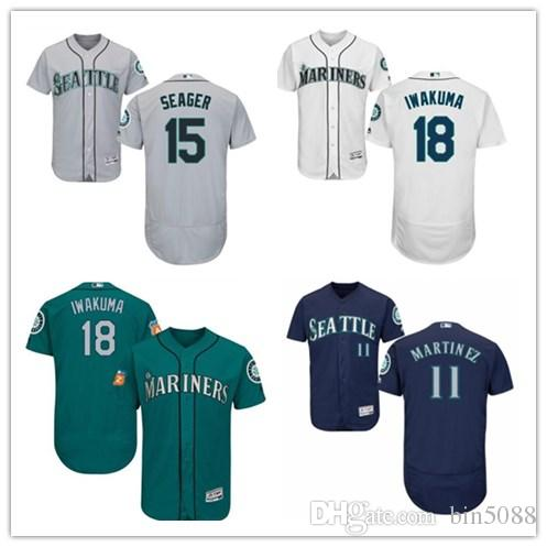 1ecb9fc12 Custom Men's Women Youth Majestic Mariners Jersey #15 Kyle Seager 18 ...
