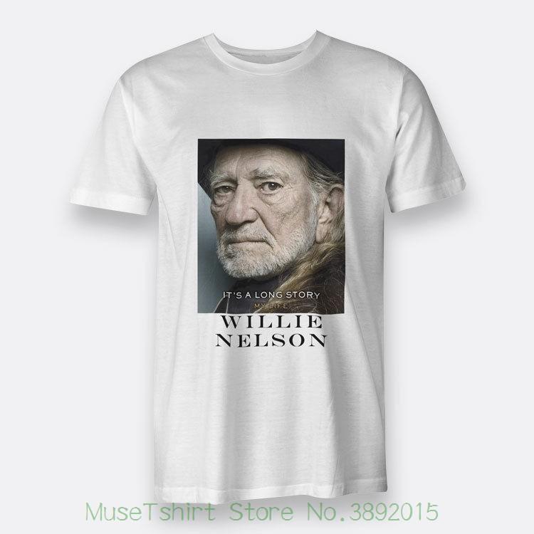7323d7d45 Compre É Uma Longa História Minha Vida Willie Nelson Regular S 3xl T Shirt  Branca T Shirt Dos Homens Camisetas Homem Roupas Frete Grátis De Jie69, ...