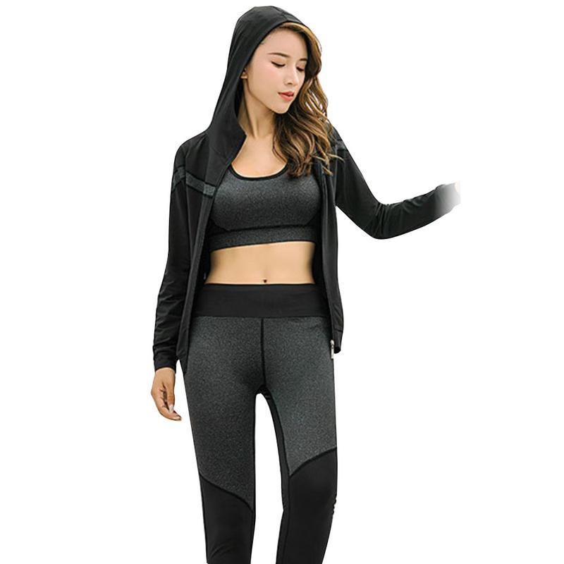 free shipping 858e4 bf2e4 2019 Yoga Set Workout For Woman Gym Clothes Elastic Fitness Running Tights  Sportswear Quick Dry Training Running Dancing Suit From Jaokui,  48.61    DHgate.