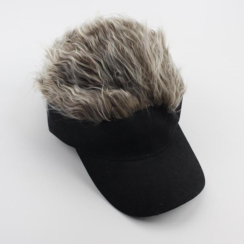 Newly 1 Pcs Wig Baseball Hat Sun Visor Cap with Spiked Hair Winter Warm Outdoor Caps BN99