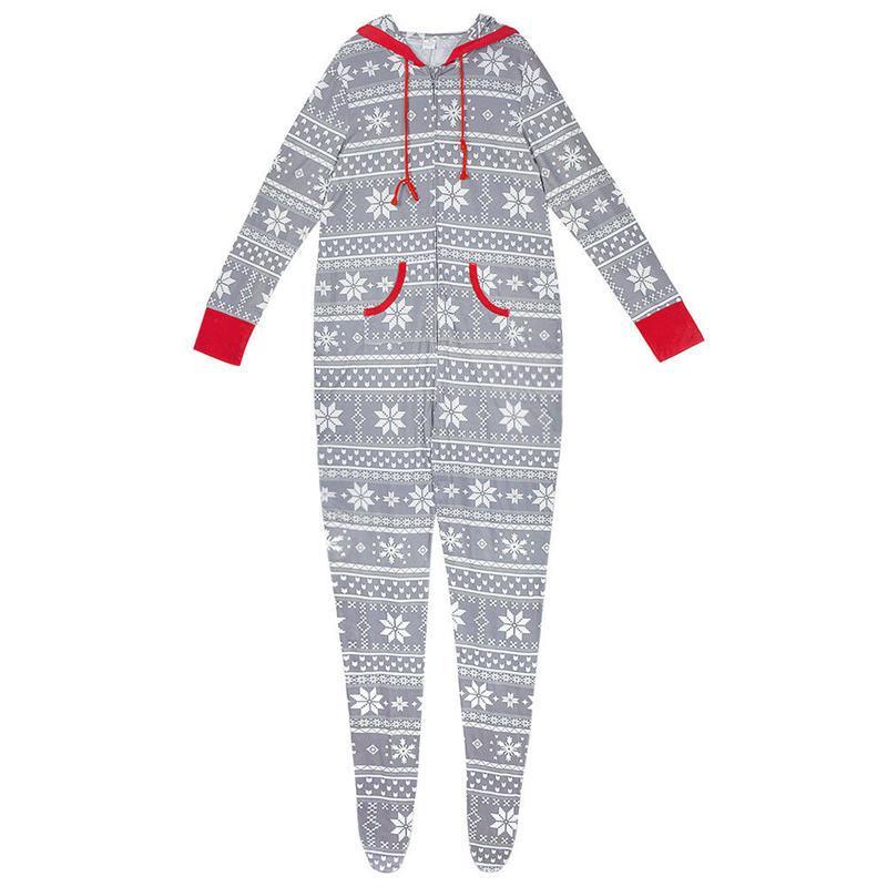 Navidad de la familia Ropa escama de la nieve pijamas Set de Navidad Mismo vestido Los padres y los niños ropa de dormir ropa de dormir principal partido Romper