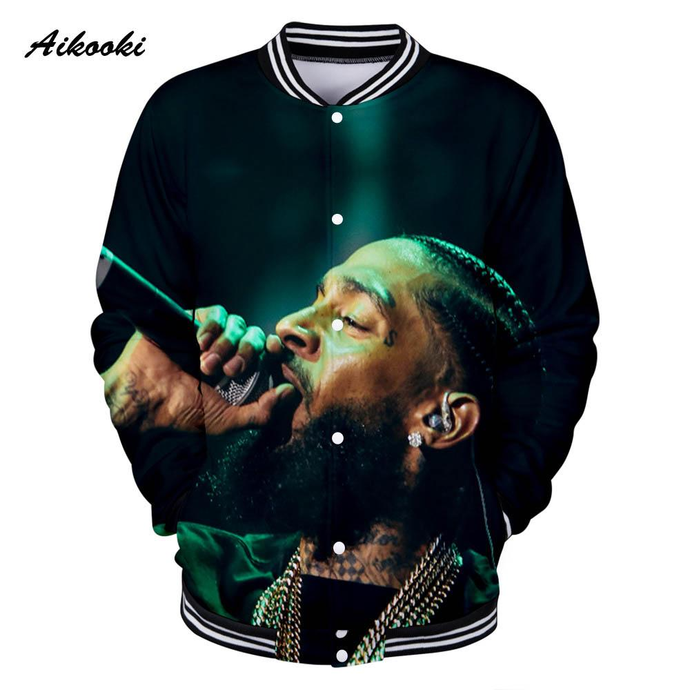 1c14e4166ff57 Aikooki Nipsey Hussle Jackets Men/Women Famous Singer Racks In The Middle  Boy/Girls Uniform Baseball Jacket 3D Print Casual Coat