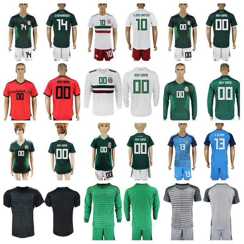 a650c8c43 2019 Mexico Long Sleeve Jersey Soccer Mexican Giovani Dos Santos Chicharito  Lozano G Ochoa Goalkeeper Football Kits Mens Kids Ladies From Janeonline,  ...
