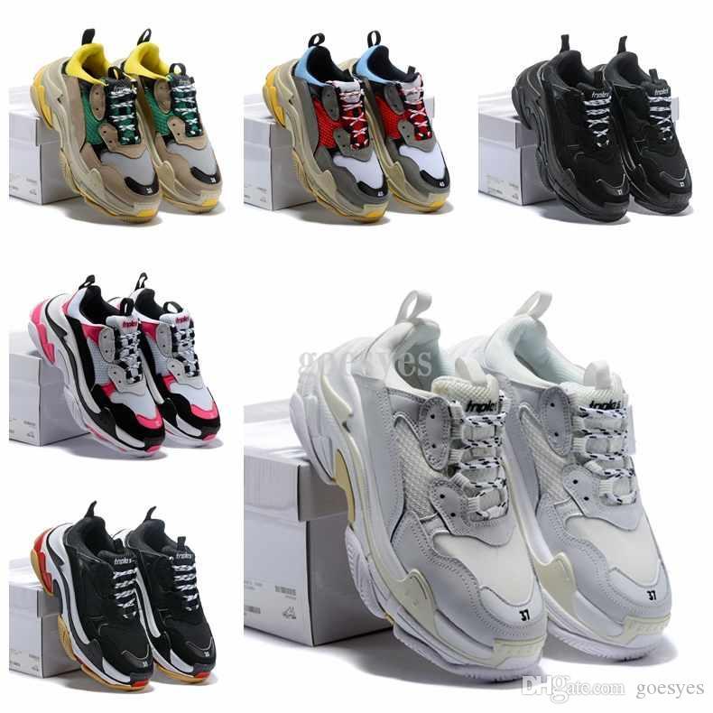Men Balenciaga SMontantes Chaussures Baskets S Dévoile Les 2019 Nouvelles Balanciaga Shoes Nouveaux Sneakers Triple YWEH2I9D