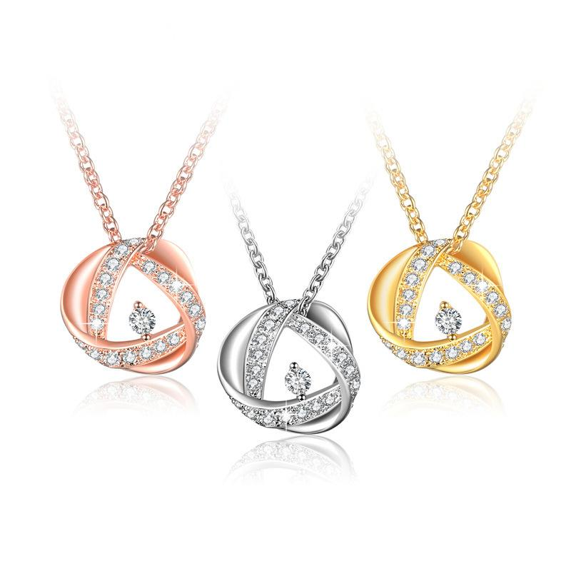 ROXI New Product Necklace Luxurious Loop AAA Zirconium Stone Insert Ma'am Necklace Factory Goods In Stock