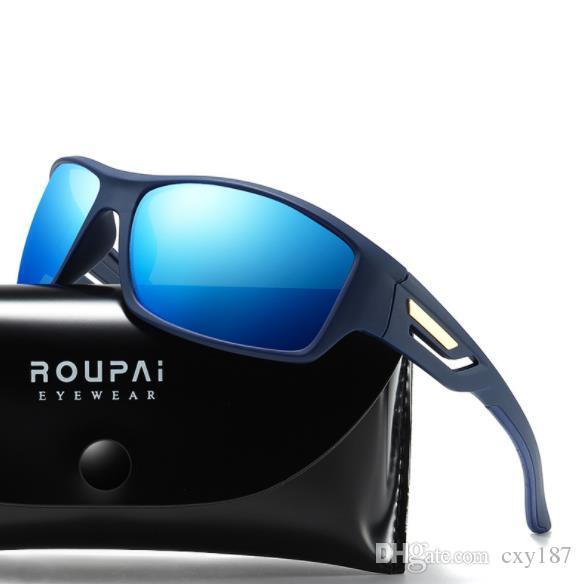8a8326bcc3 Compre Envío De La Gota! Gafas De Sol Polarizadas Para Hombre Retro Gafas  De Sol Masculinas Para Hombres Espejo De Visión Nocturna Gafas De Sol  Diseñador De ...