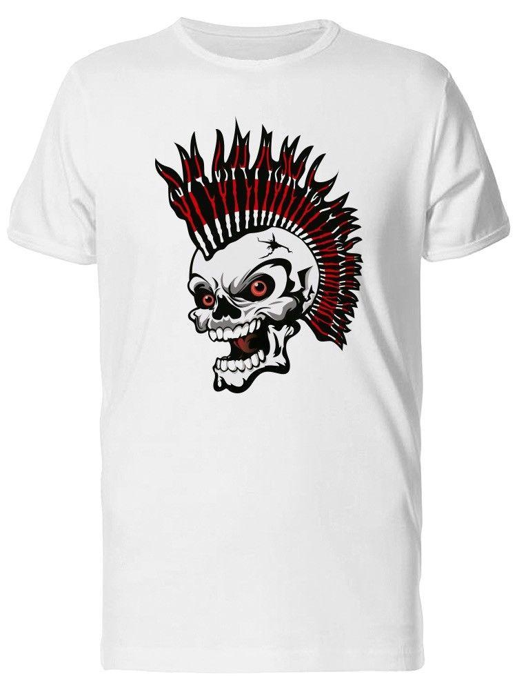 16c80f816 Skull With Evil Mohawk Men'S Tee Image By Shutterstock Awesome Shirts Cool T  Shirts For Men From Tshirtsdesign49, $11.58| DHgate.Com