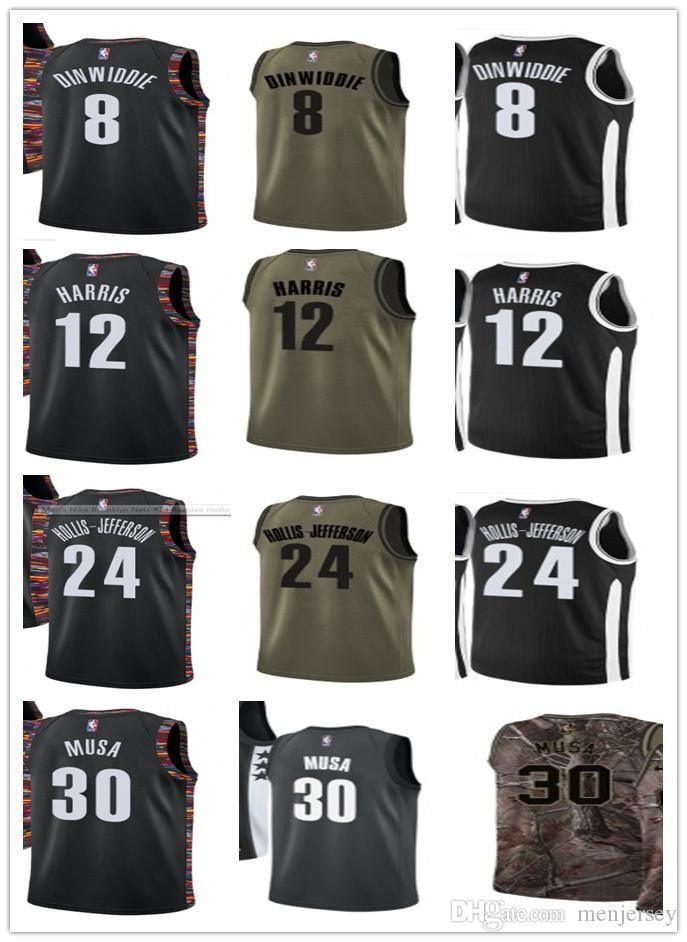 brand new 35ea7 aef26 2019 new Your jersey men/women/youth Selected basketball 24 Rondae Hollis  31 Jarrett Allen 30 Dzanan Musa 8 Spencer Dinwiddie 12 Joe Harris