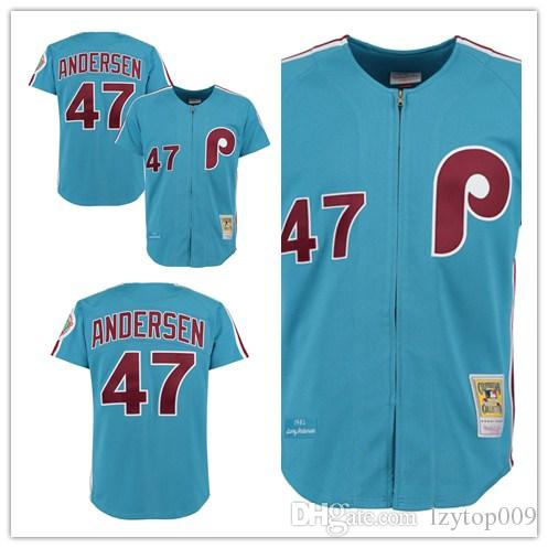 edadc6330dd34 2019 Men'S Phillies 1983 47 Larry Andersen Mitchell & Ness Light ...