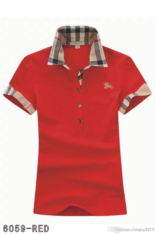f7f41ac1ddd Compre Polos Para Mujer Moda Casual Camisa Polo Para Mujer Camisa Polo es S  2XL Camisetas Blusa Mujer Camiseta A012 A $18.49 Del Shitang8877 |  DHgate.Com