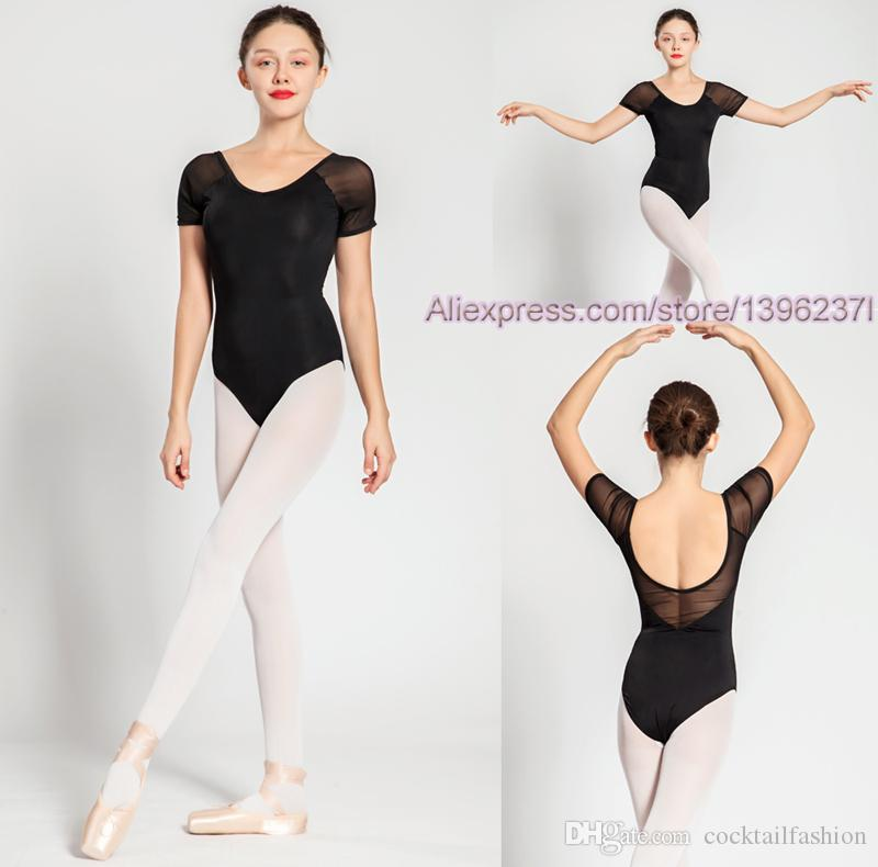 0ae3f765e75e Acquista Balletto Body Donne 2018 Manica Corta Comodo Balletto Pratica Danza  Costume Adulto Ginnastica Di Alta Qualità Body A $18.1 Dal Cocktailfashion  ...