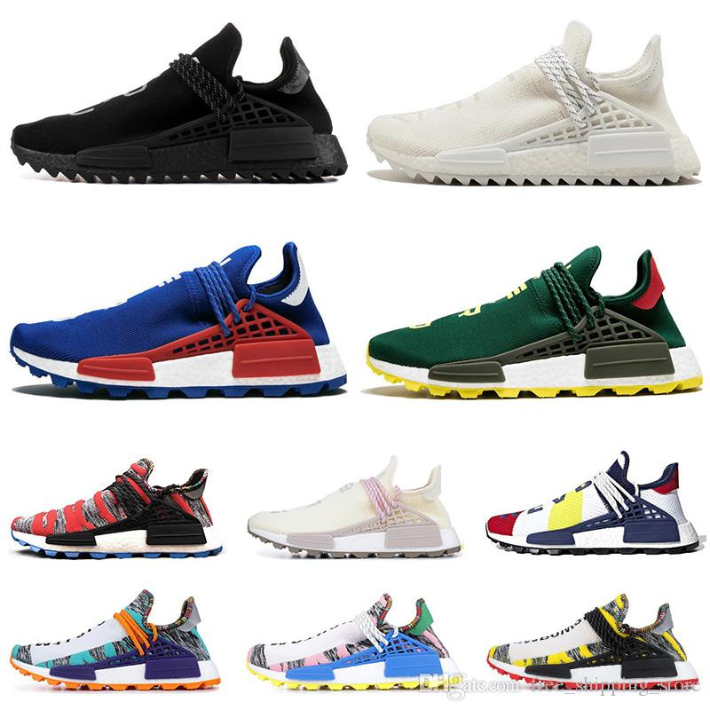 a50506fb8d443 New Human Race Running Running Shoes For Men Women Pharrell Williams NERD  BLACK White Black Blue Green Cream Mens Trainer Sports Sneakers Mens  Running Shoe ...