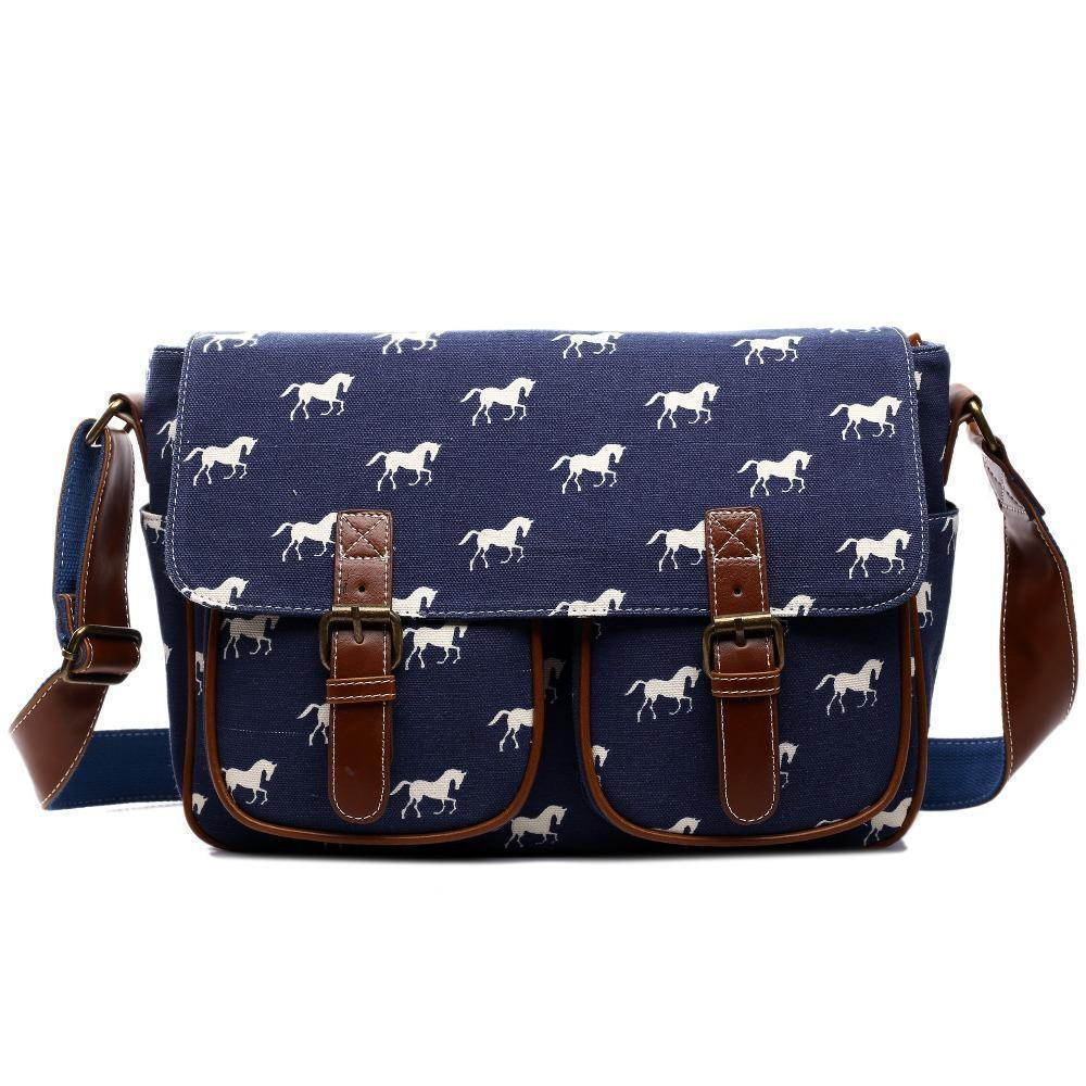 a7b35a2474 Miss Lulu Women Messenger Bags Horse Cross Body Bags For Girls Canvas  Oilcloth Men Shoulder Bag School For Teenagers L1157 Designer Purses Satchel  Bags From ...