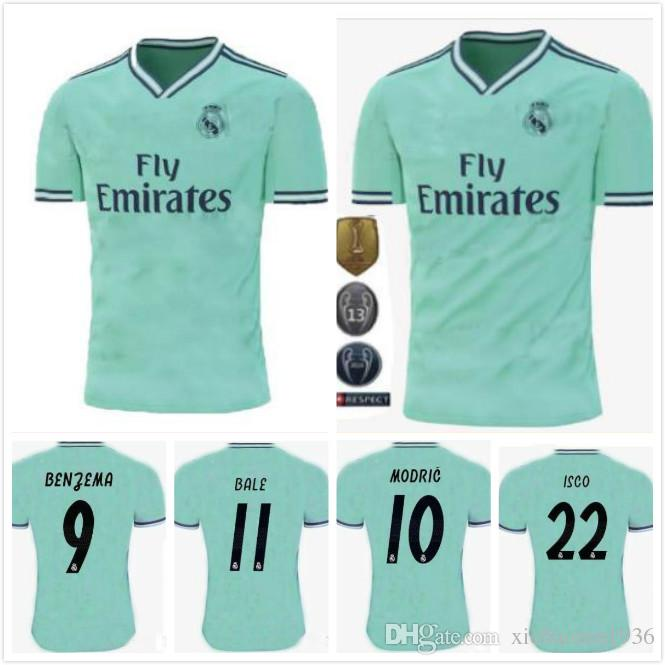 premium selection 5f2de ff033 2019/20 Real Madrid third Soccer Jersey green NEW soccer shirt #20 ASENSIO  ISCO MARCELO madrid 19 20 Football uniforms size S-2XL