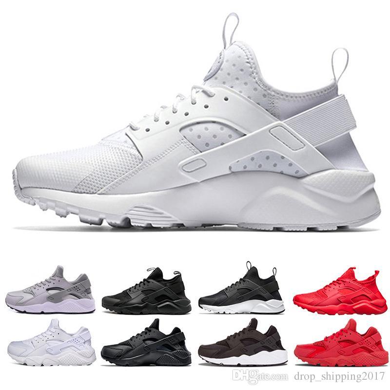 30fb14fc2ae0 Cheap 3.0 4.0 Huarache Running Shoes Triple White Black Red Grey Runner  Fashion Sports Trainer Men Women Runner Sneakers Shoes 36 45 Trail Running  Shoes ...