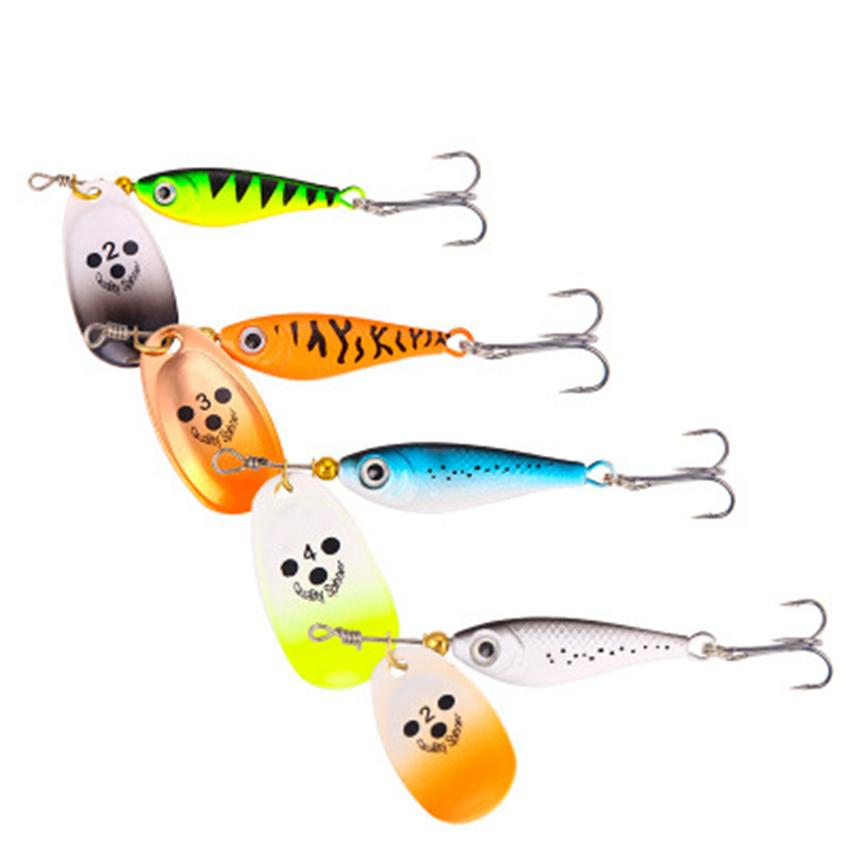 Spinner Baits Fishing Lures Metal Wobblers CrankBaits Jig Shads For Fly Fishing Shone Sequin Trout Spoon Baits LJJZ734