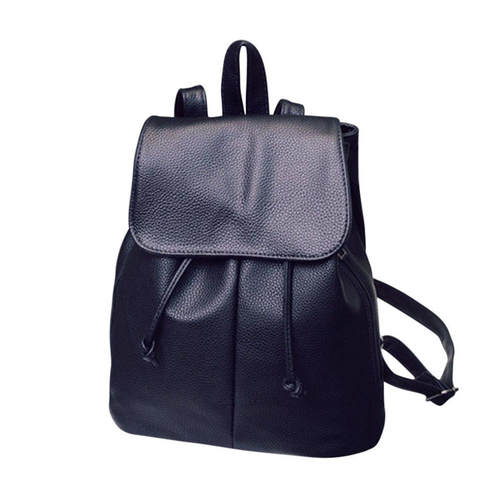 1d9db8690c Simple Fashion Women Backpack Leather Drawstring Travel Shoulder Bags  Ladies Girls Students School Bag Big Capacity Fab Laptop Rucksack Backpacks  For ...