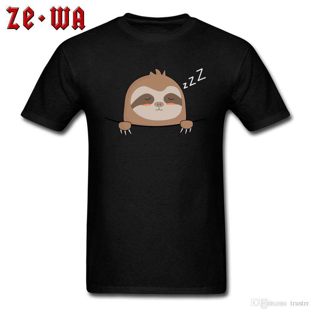 Women/'s Pocket Sleep Cute Sloth Funny Blouse Cotton Top Tee Short Sleeve T-Shirt