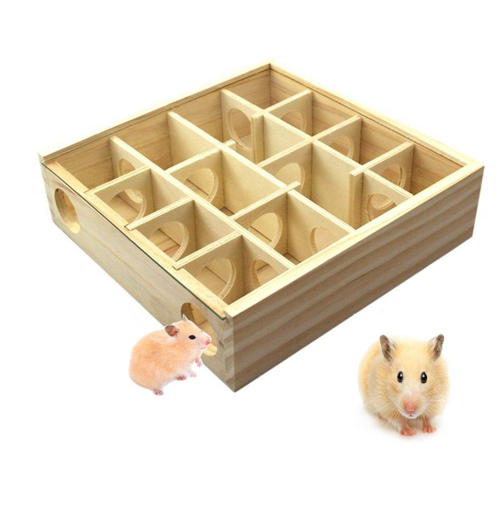 Hamster Maze, PVC Maze Toy with Acrylic Cover Dwarf Mouse Cage Tubes Gerbil  Maze for Small Furry Animals