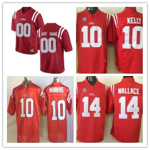 wholesale dealer 5da7b 8f9f3 Custom 10 Eli Manning Mens Ole Miss Rebels College Football Jersey Limited  red Personalized Stitched Any Name Any Number cheap Jerseys S-3XL