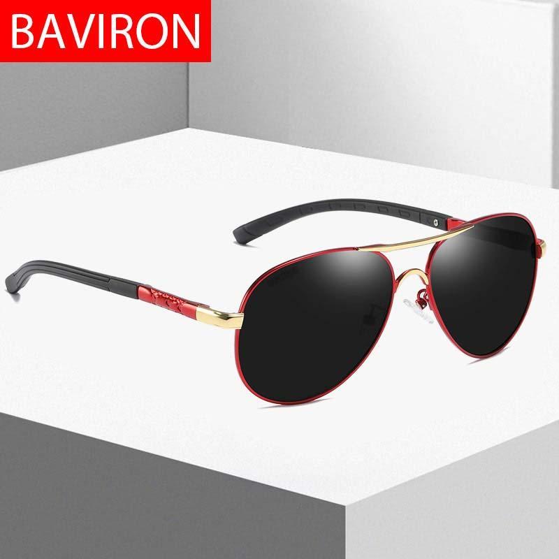 ebe3f6c069 Compre BAVIRON Hombres Gafas De Sol Polarizadas Diseñador Piloto Gafas De Sol  Hombres Drop Ship Clásico Gafas De Sol Influencia De La Vendimia Gafas 100%  ...