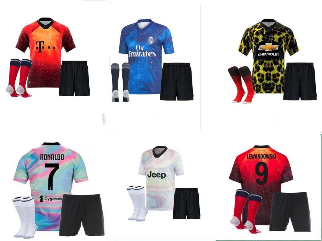 07c1cc509 2019 top quality ea sport juventus soccer jersey adult kit ronaldo