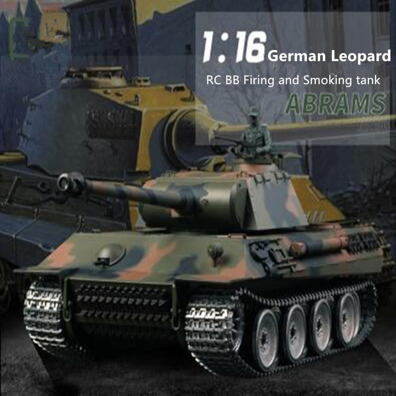 3819 update verison remote control rc tank 1/16 2 4G metal or plastic  Battle Tank with BB Bullet Shoot simulation sound tank toy