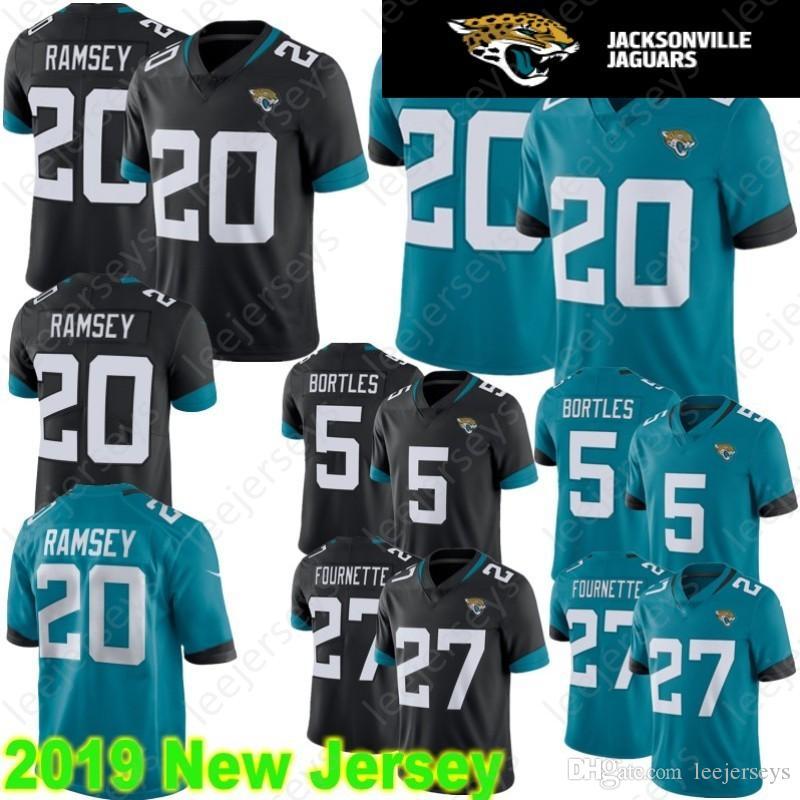 826e97592 2019 Stitched Jacksonville 20 Jalen Ramsey Jaguar Jersey 27 Leonard  Fournette 5 Blake Bortles 84 Keelan Cole Football Jerseys From Leejerseys