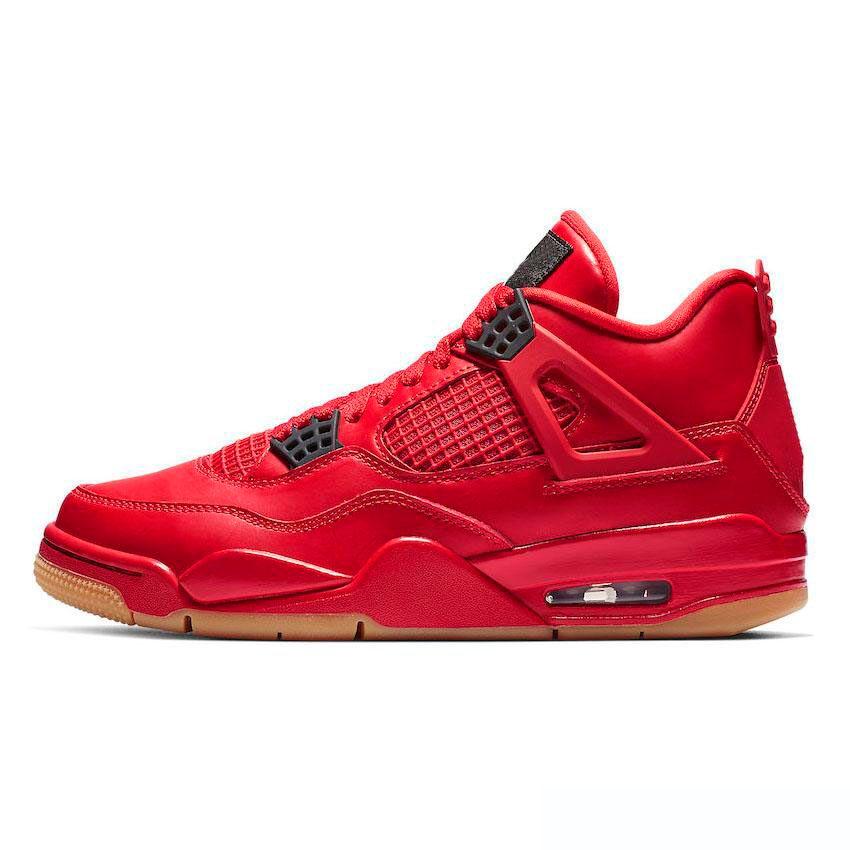 7ee0fa8435b Nike Air Jordan 4 2019 Nuevo De Alta Calidad 4 4s Cemento Blanco Zapatos De  Baloncesto De Dinero Puro Hombres Mujeres Bred Royalty Toro Bravo Zapatillas  ...