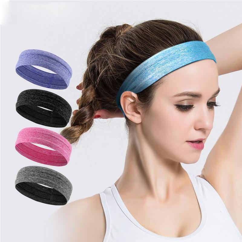 2db0f3e5aac7 2019 Headband Yoga Hair Bands Sports Headband Women Men Sport Anti Slip  Elastic Sweatband Exercise Running Cycling Football From Kuyee