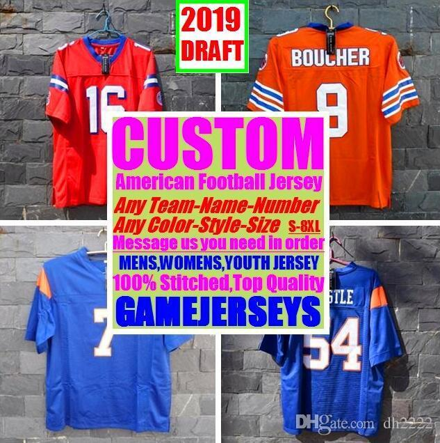 4ad709a5 2019 All Stitched Custom American Football Jerseys Arizona Atlanta ...