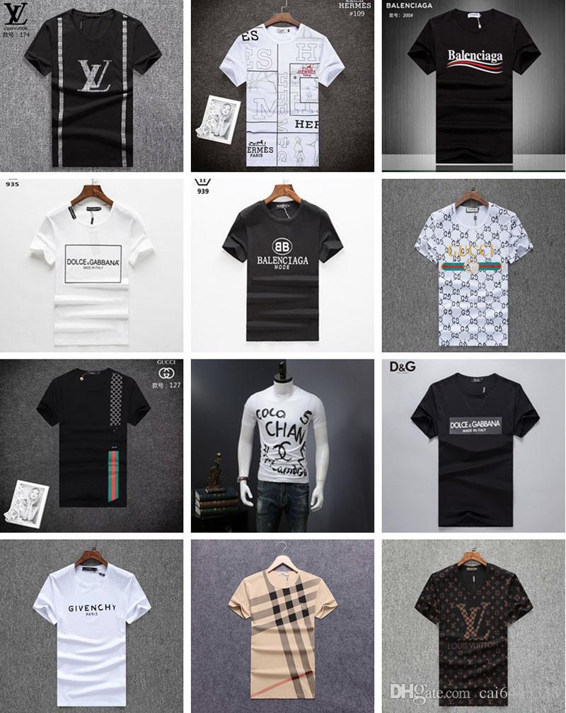 cc07ebbed Hot Sale Summer Men T Shirt 100% Cotton Short Sleeve T Shirts Man Tops Tees  Male Fashion T Shirt Casual Homme Sport Gym Tshirt Trendy T Shirts For Men  ...