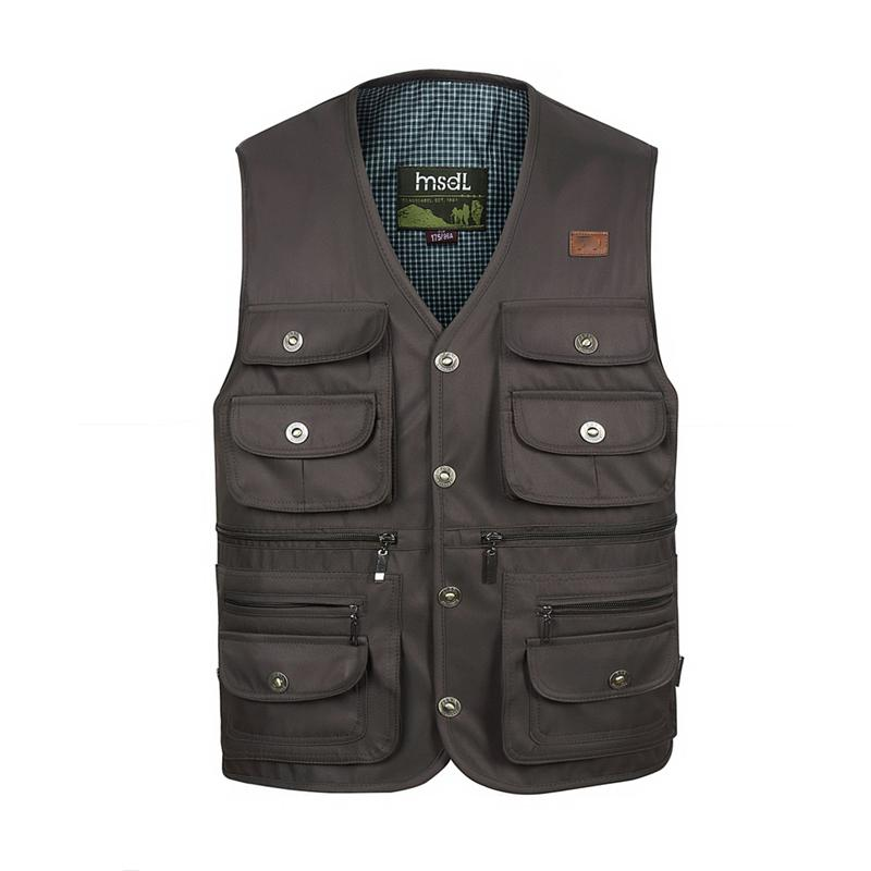 Reporter Overalls Komfortable Mantel Cargo Jacke Pocket Weste Homme Größe Mode Große Sommer Männer Multi Lässige Masculino ID2EYW9eHb