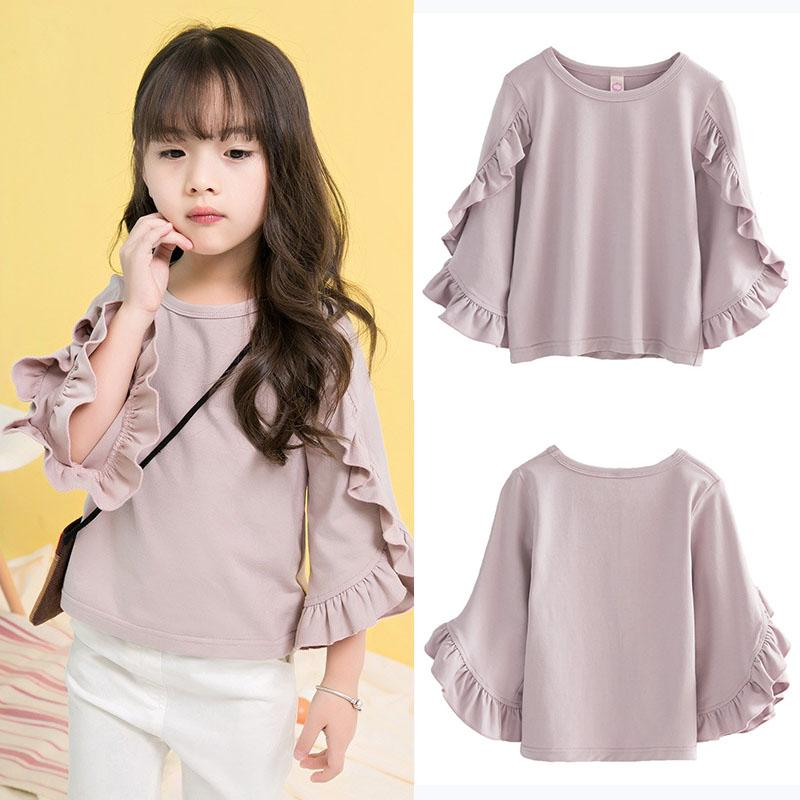 d463bb142b3c 2019 New Girls Shirt Long Sleeve Ruffes Kdis Girl Autumn Elegant Tee Shirt  New Design Fashion Tops Clothes Children Outwear Outfits From  Aile_rabbit_store, ...