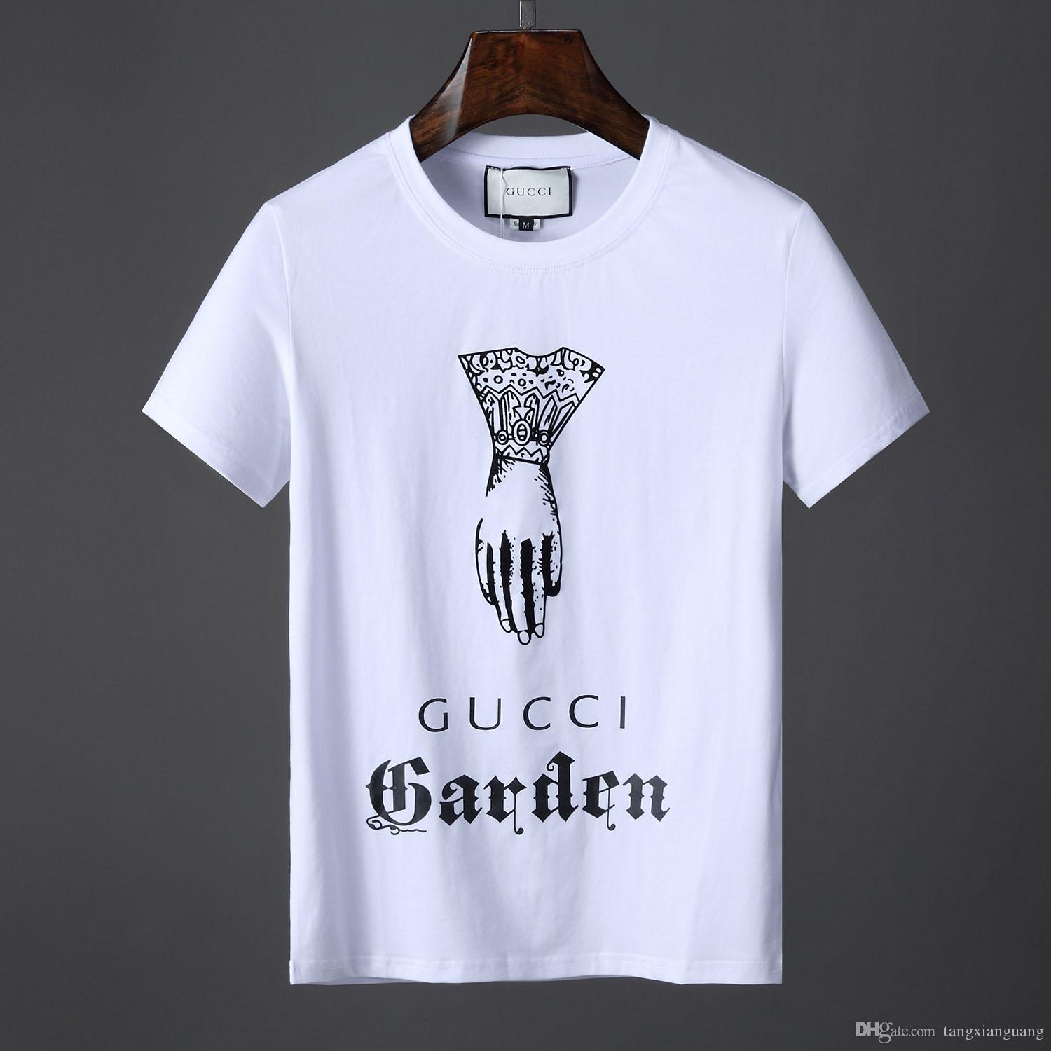 943e86f2eee9 2019 NEW Fashion Luxury Brand Designer T Shirt Hip Hop White Mens Clothing  Casual T Shirts For Men With Letters Printed TShirt Size M 3XL From  Tangxianguang ...
