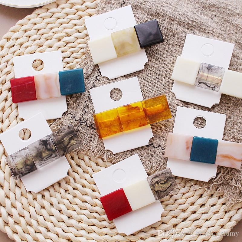 Women Hairpins Hair Clips Resin Bobby Pins Side Clips Barrettes Headwear Hairgrip Hair Tools Fashion Accessories Hairclip Headdress Jewelry