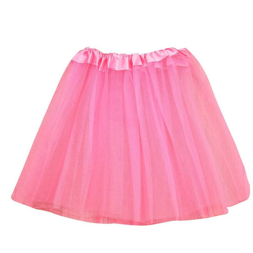 Girls Clothes Kids Girls Skirt Toddler Baby Kids Girls Solid Tutu Skirt Party Dance Ballet Clothes Baby Costume jupe fille N29