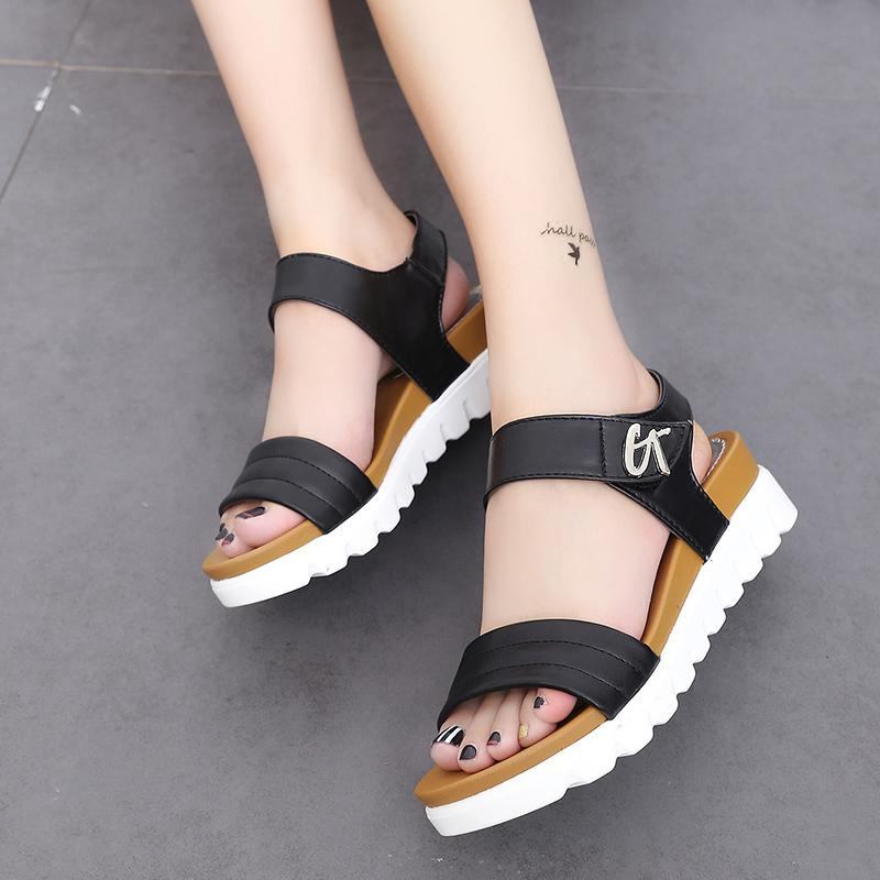 801ebaadd58 Summer Peep Toe Gladiator Sandals Women New Wedges Shoes Woman Platform  Beach Sandals Woman Shoes Sandalias Mujer Size 42 Jack Rogers Sandals White  Wedges ...