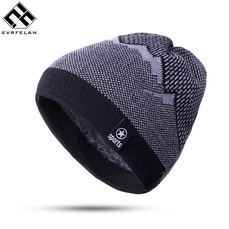 2017 Warm Fashion Winter Hat For Man Knitting Hat Cap Man Beanie Hat Cap  Skullies Beanies Elastic Toucas Drop Shipping Baseball Cap Slouchy Beanie  From ... f2db9fdd666d
