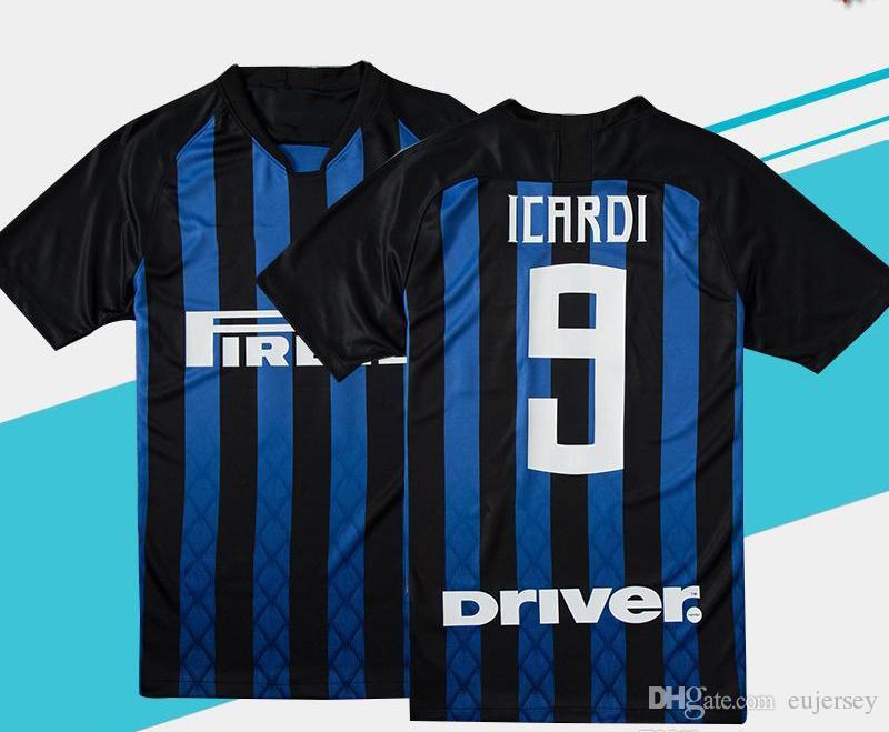 723591c6a71 2019 2018 19 Inter Milan Home Away Soccer Jersey Milan  9 ICARDI  10  LAUTARO  11 VECINO  19 EVER BANEGA  29 DALBERT Football Uniform Sales From  Eujersey