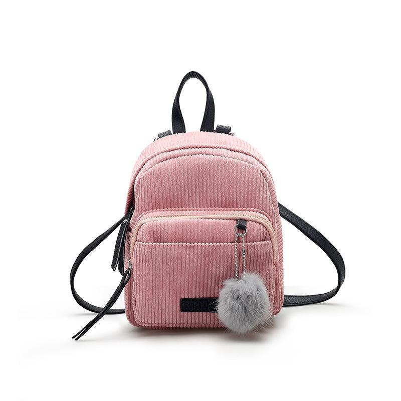 f53ff35a0369 Good Quality 2019 Fashion Backpack Women Mini Backpacks For Teenage Girls  Winter Solid Color School Bags Student Small Backpack Herschel Backpacks  Best ...