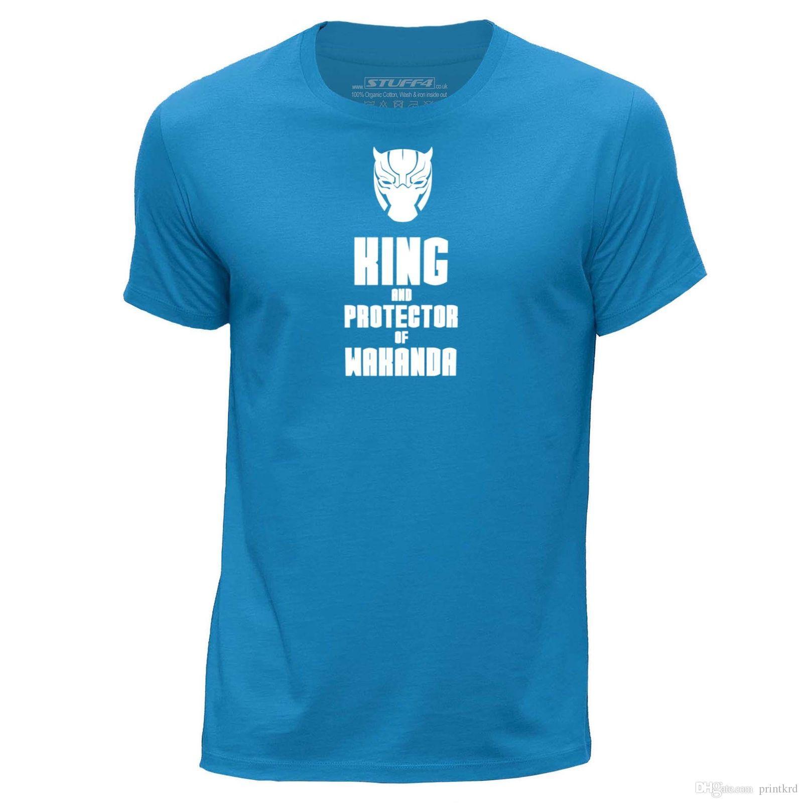 e0f013c5ab99 STUFF4 Top Tee/Blau/Rundhals T Shirt/Black Panther Inspiriert König/SZ  Coolest T Shirts Online Buy Shirt Designs From Printkrd, $10.38  DHgate.Com